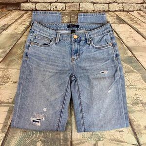 White House Black Market Girlfriend Distress Jeans